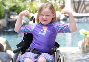 female patient in wheelchair