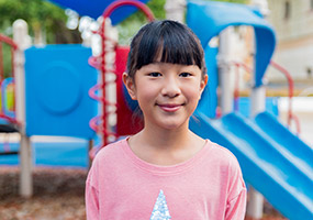 Female patient on playground