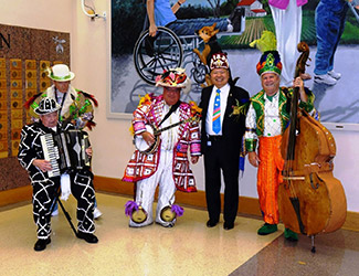 Andrew with Shriners musical group