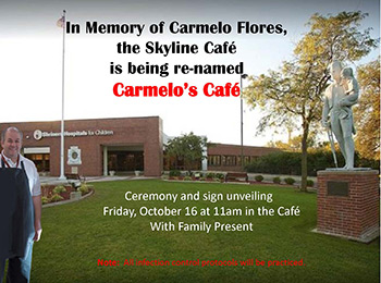 Carmelo Cafe flyer
