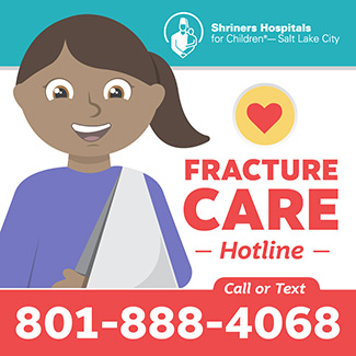 Fracture care image and hotline number