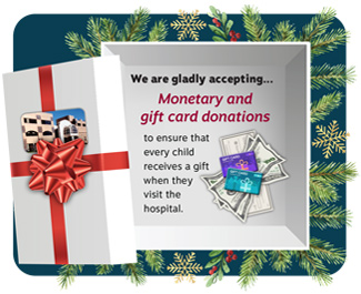 Request for gift cards in lieu of toys