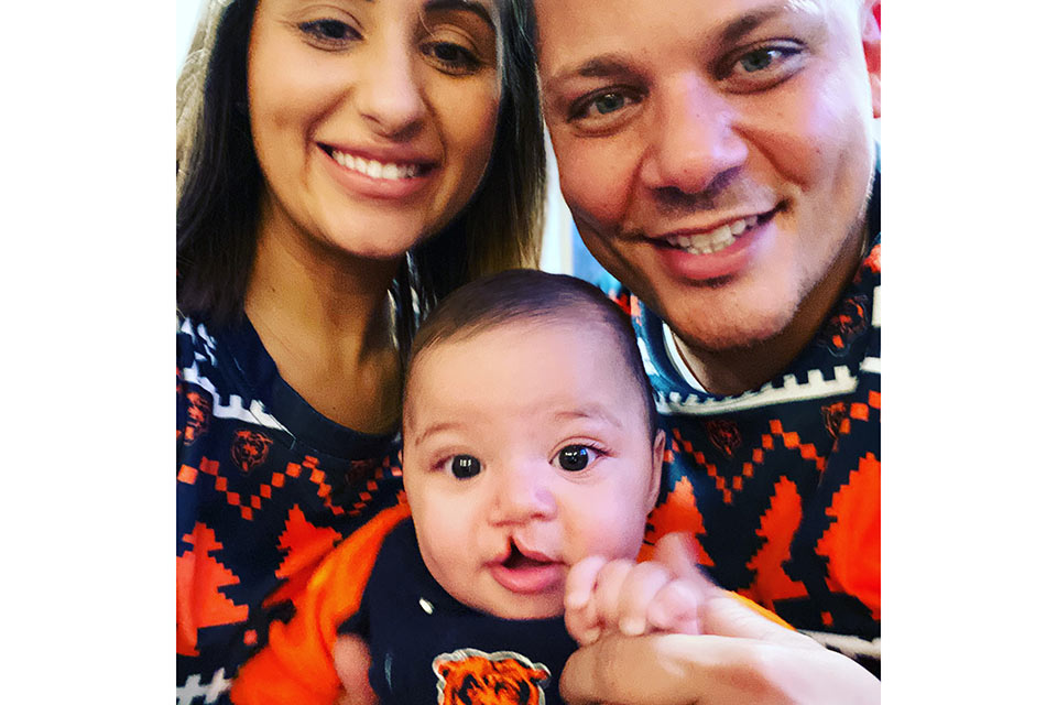 Jovani with parents