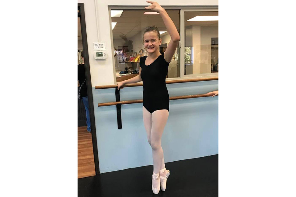 Kiera in dance class