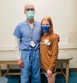 Lily and Dr. Talwalkar