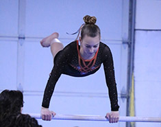 Madeline on uneven parallel bars