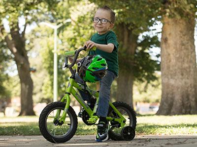 Hunter loves bike riding