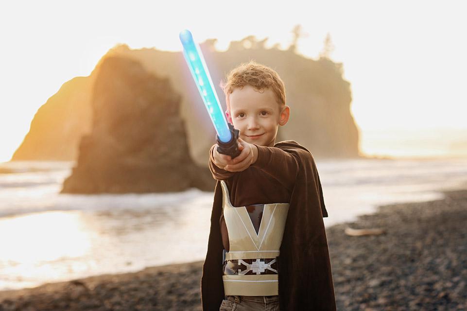 Liam as Obi Wan Kenobi